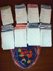 Stock 25 sacchetti rifinitura uncinetto bomboniere segnaposto portaconfetti da ricamare punto croce
