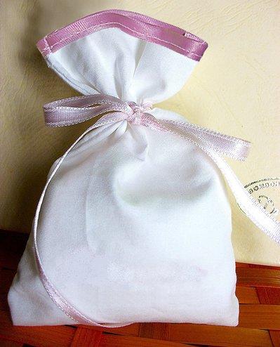Pittura su stoffa: Stock 25 sacchetti cotone e rifinitura in raso bomboniere segnaposto portaconfetti segnaposto