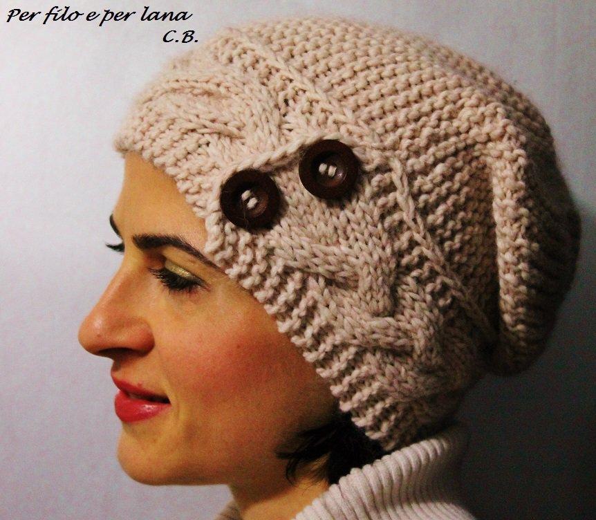 Berretto in lana fatto a mano