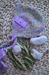 Cuffietta neonata uncinetto