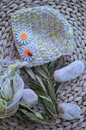 Cuffietta neonata lana uncinetto