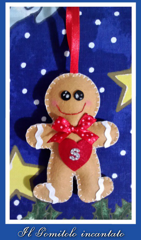 Decorazione Natale: gingerbread man