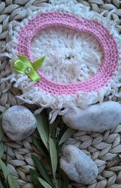 Berretto neonata cotone uncinetto
