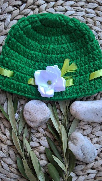 Cappellino lana neonato uncinetto
