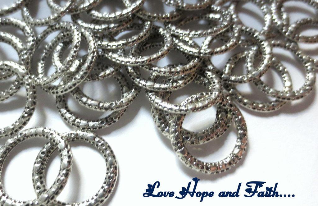 LOTTO 10 anelli chiusi (14mm diam.) (cod.01231)