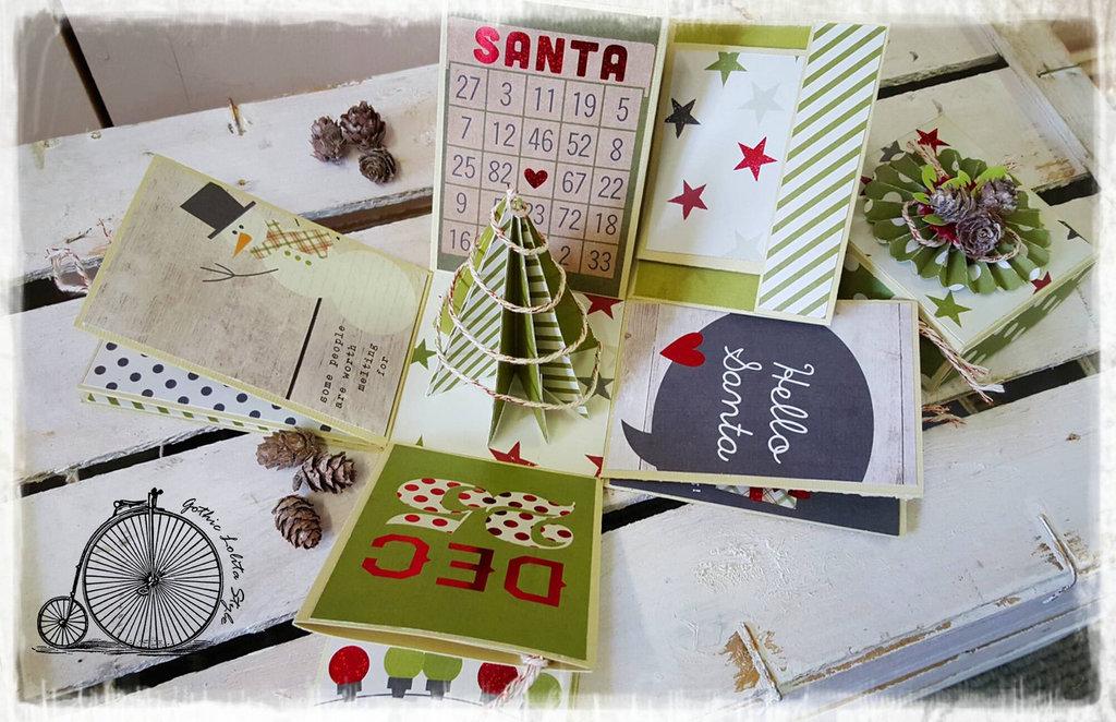 Mini Album in scatola Natale