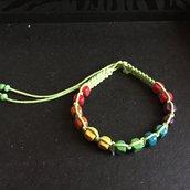 Bracciale arcobaleno fluo