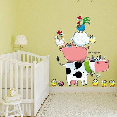 Adesivi colorati Gli animali della fattoria (3382f)