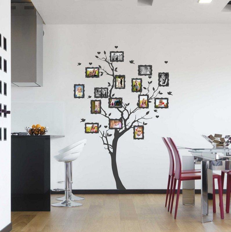 Wall sticker / Adesivo da parete Albero genealogico per le foto 10x15cm (3430n)