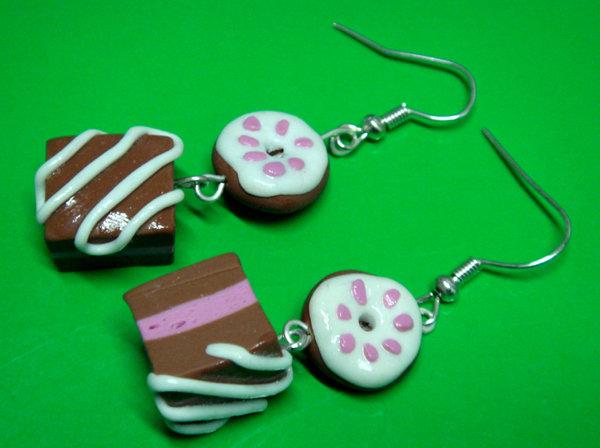 Orecchini cioccolatini & ciambelline