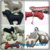 Giochi per cani fatti a mano in cotone con sonaglino