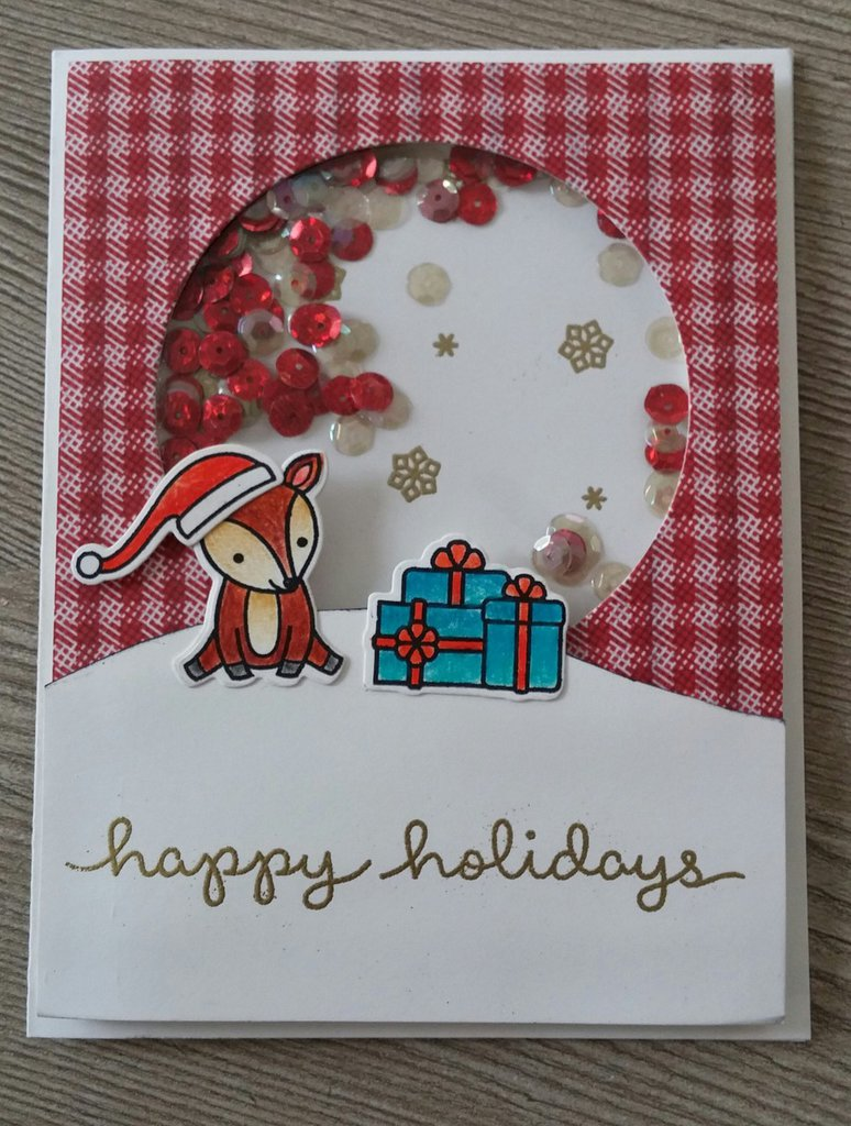 Shaker card Sweet Deer