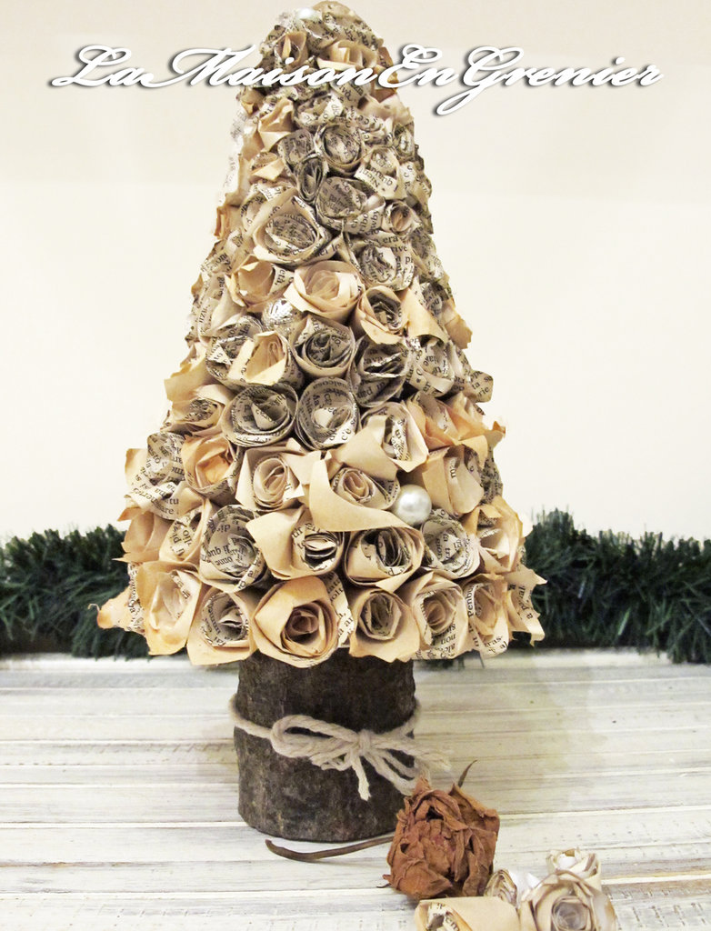 albero di natale con tronchetto