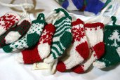 Calzette da appendere realizzate a maglia 100% pura lana vergine