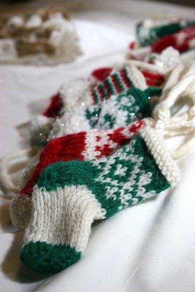 Calzette da appendere realizzate a maglia made in Italy 100% pura lana vergine