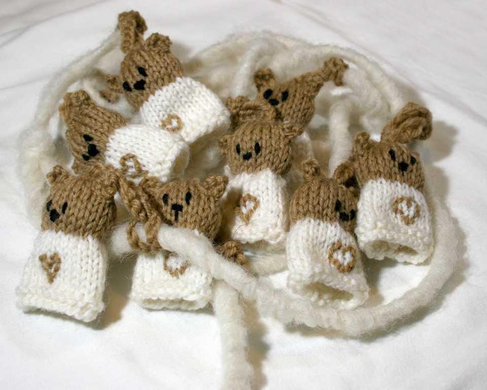 Attenzione inserzione riservata!!! Orsetti bianchi da appendere made in Italy 100% in pura lana vergine