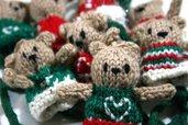 Orsetti colorati da appendere made in Italy 100% in pura lana vergine
