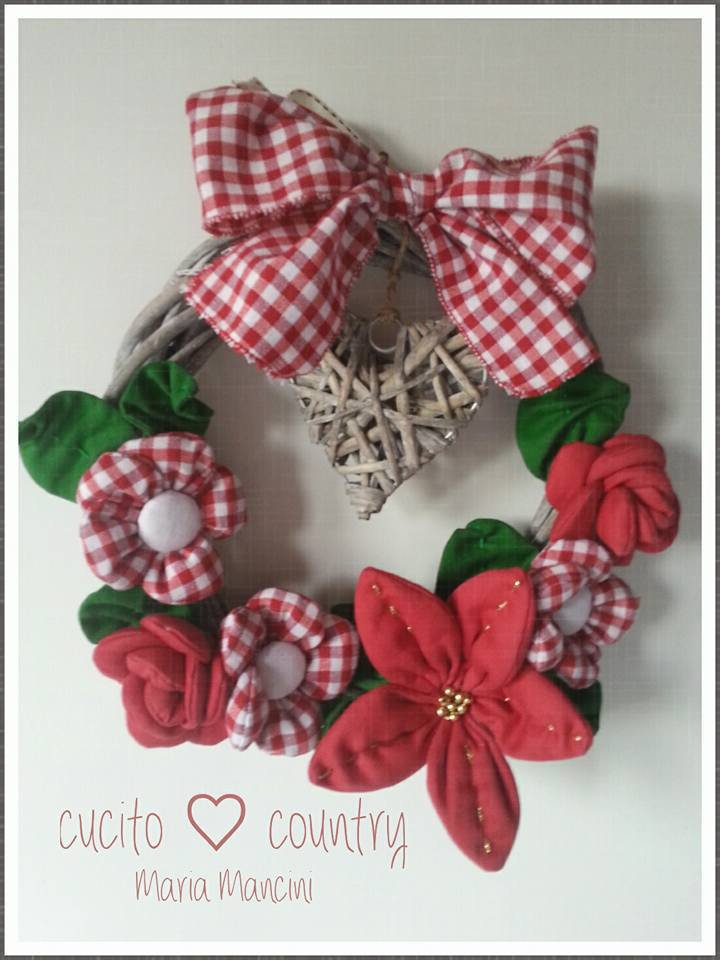 ghirlanda handmade in stile country