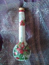 Bottiglia decorativa Natale