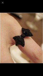Anello fiocco nero