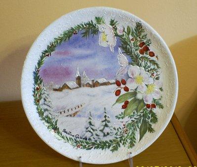 piatto ceramica natalizio