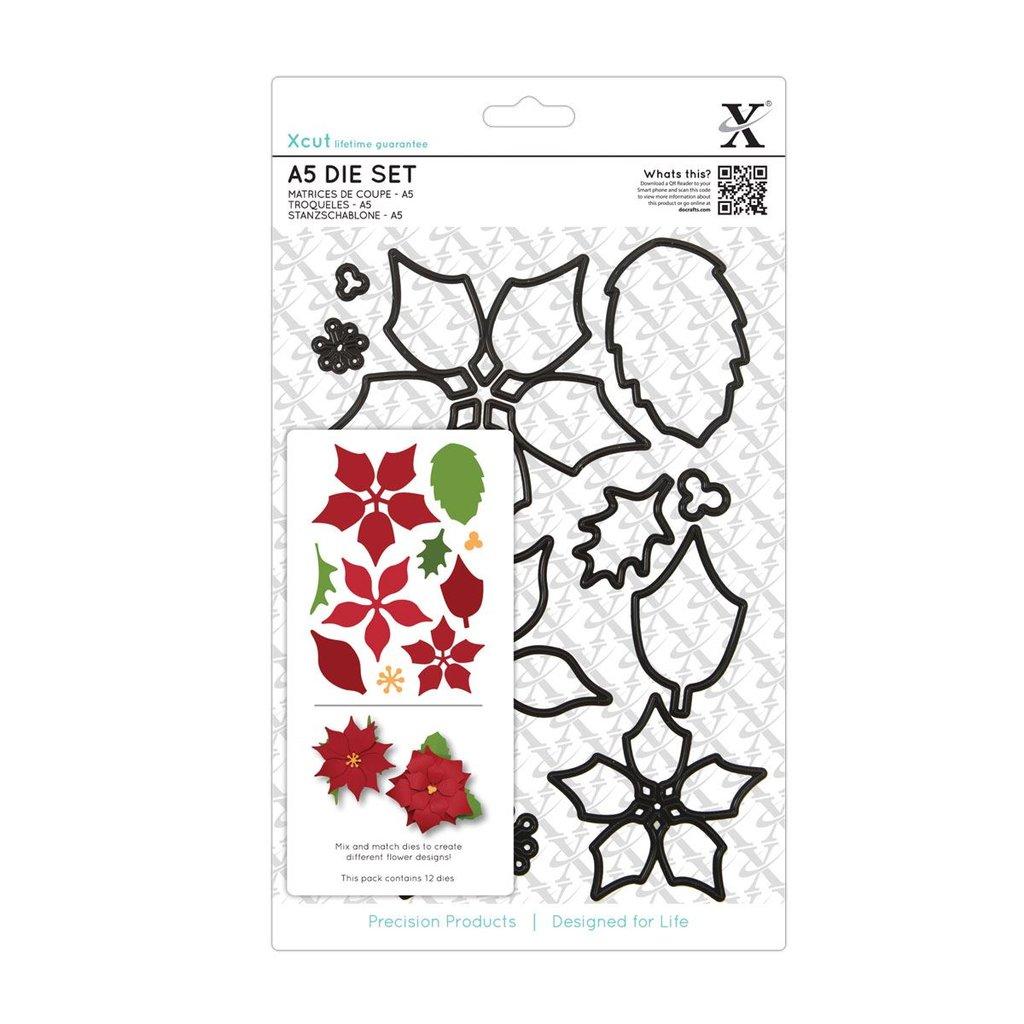 Set fustelle Xcut A5 - Poinsettia