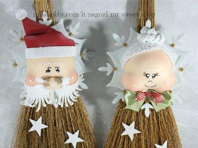 Fuori porta Babbo Natale e Signora Natale