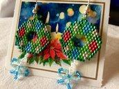 ~ Christmas Earring ~ Beaded Earrings / Orecchini natalizi con perline Miyuki / Ghirlanda di Natale