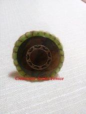 Anello regolabile in pannolenci cucito a mano grande a 1 cerchio