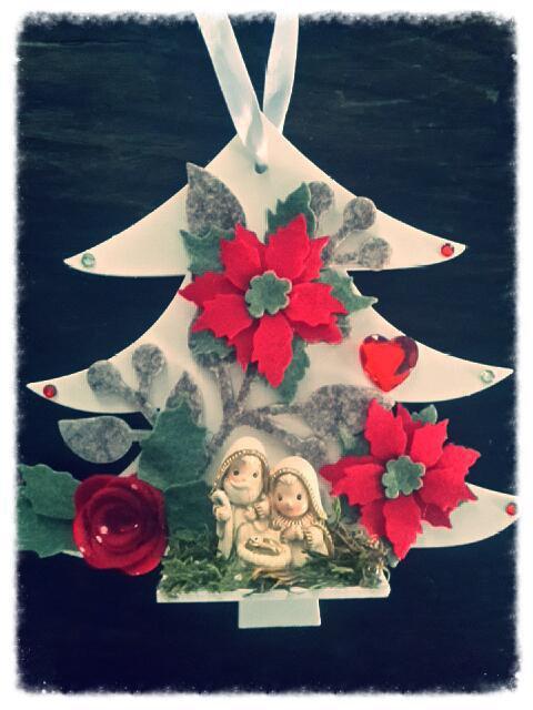 Alberello albero di natale ghirlanda decorativo con presepe idea regalo natale 2015