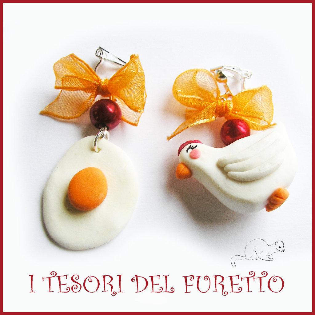 Orecchini per Megar Gallina+uovo, Uovo + papera, Corissant, uovo + coniglietto, ovetti x2 mod, gelati, cappello nero halloween