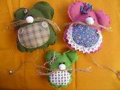 Gioco,decorazione,topolini in stoffa,mamma,papà e bimbo