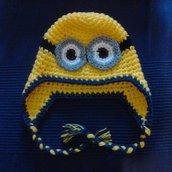 Cappellino da aviatore Minions giallo