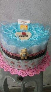 Torta di pannolini idea regalo nascita,  battesimo,  compleanno ecc..