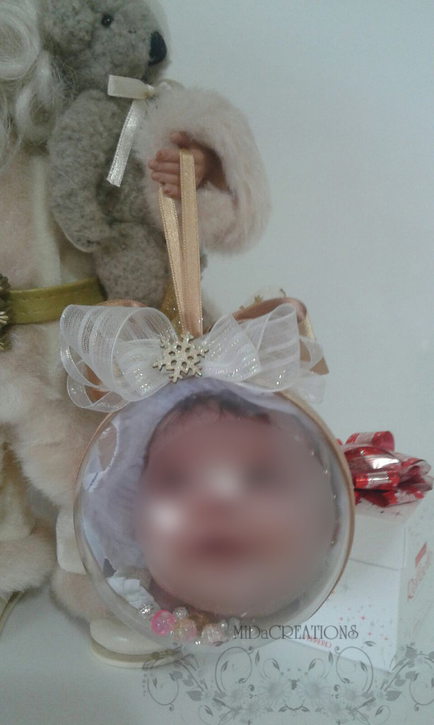 Sfera di Natale -Personalizzata con la foto