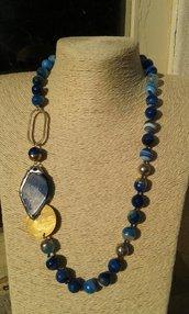 collana blu di agata