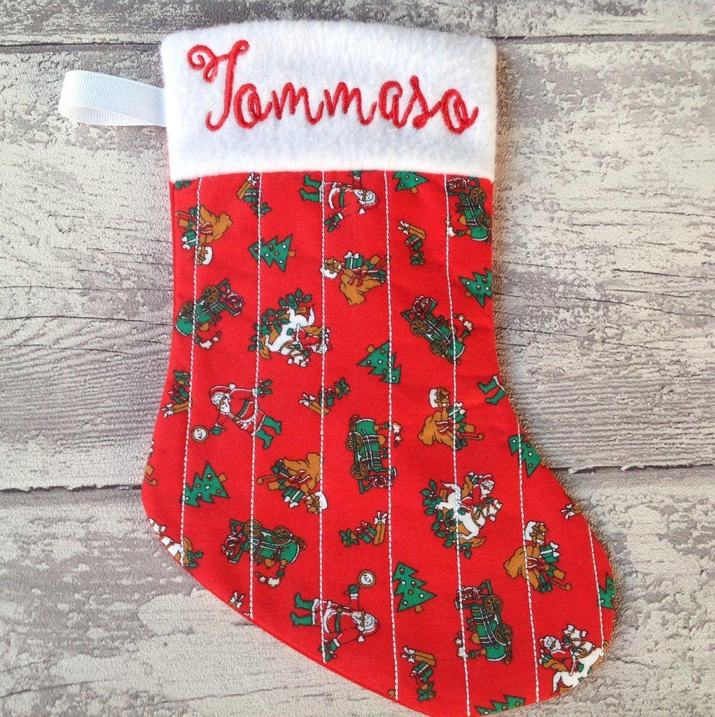 Calza Natale Befana personalizzata con nome - Lungh.cm.25