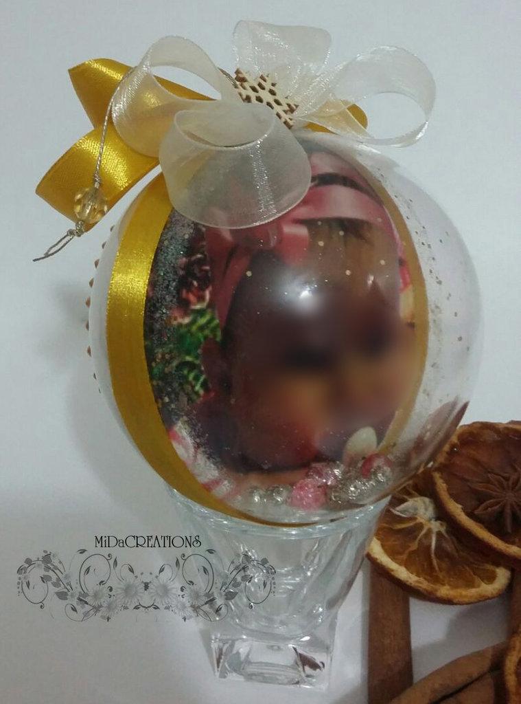 Sfera di Natale -Personalizzata con la foto(double face)