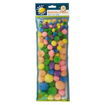 Mix 100 Pompoms - Pastel