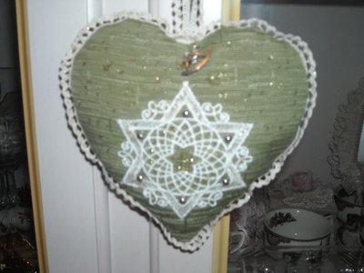 Addobbo natalizio cuore verde