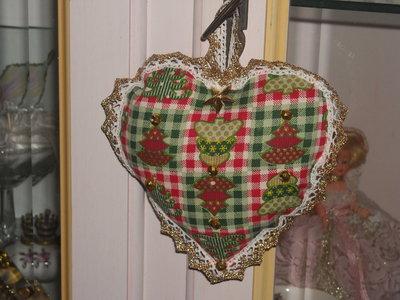 Addobbo natalizio cuore fantasia