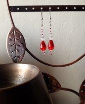 ~ Christmas Earring ~ Christmas Pendant ~ Orecchino pendente di natale con perline miyuki