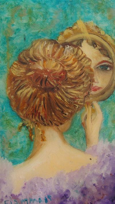 Quadro di donna allo specchio 39 specchio specchio delle - Specchio specchio delle mie brame ...