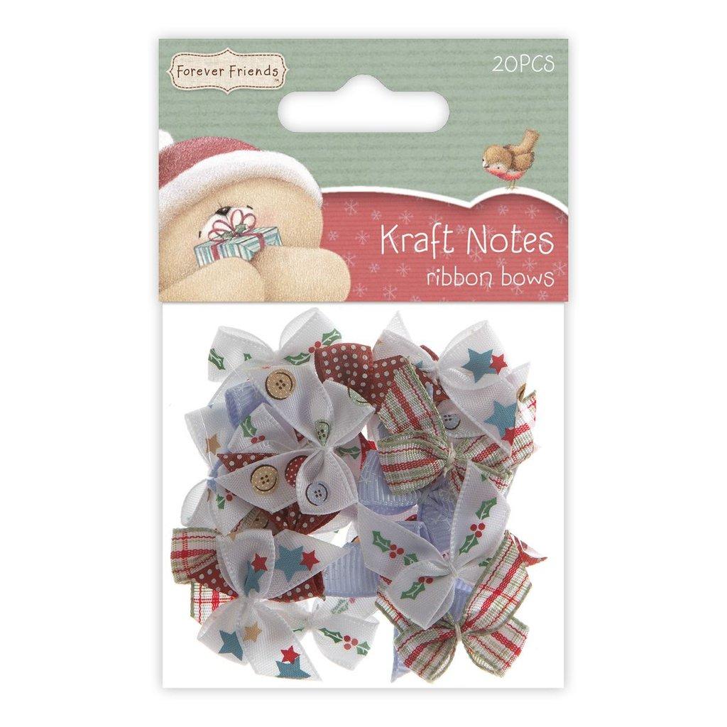 Set 20 fiocchi - Christmas Kraft Notes