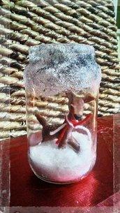 Barattolo Natalizio Con piccolo cerbiatto
