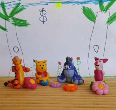 """personaggi da collezione """"Winnie The Pooh"""""""""""