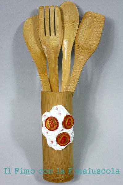 Porta utensili cucina natalizio per la casa e per te - Utensili per la casa ...