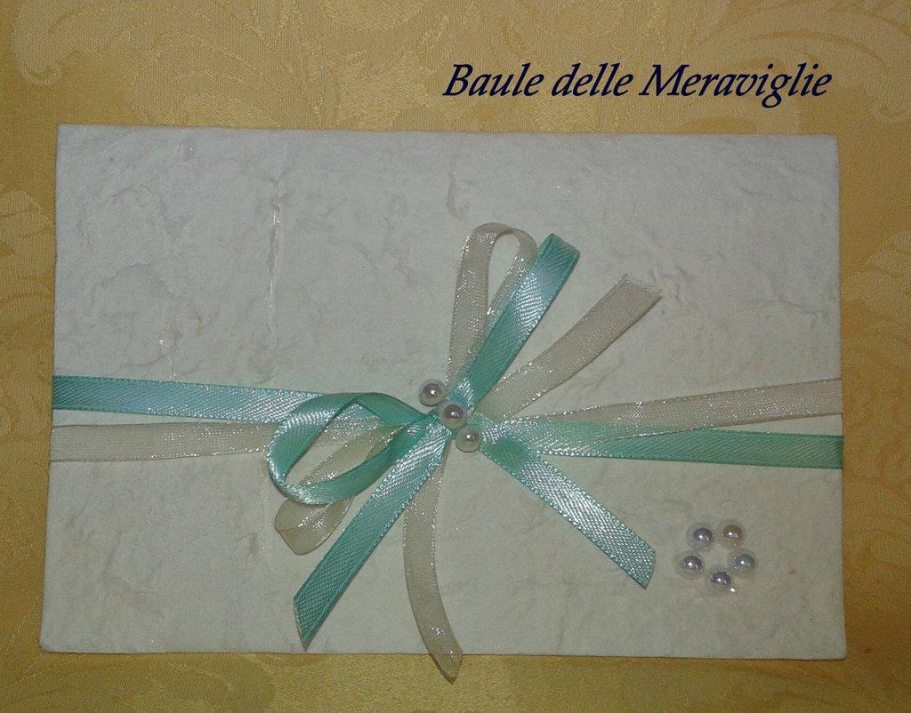 Partecipazione matrimonio in carta cotone - Tiffany