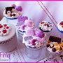 Barattolo porta-spezie Bomboniera decorato rosa idee regalo originali in fimo