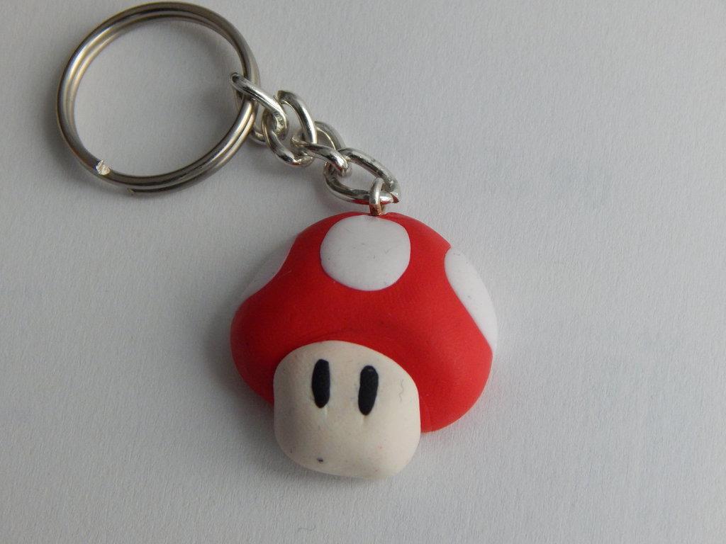 Funghetto di Super Mario- Portavhiavi